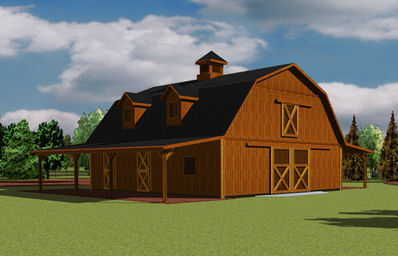 Barns and buildings by all phase nationwide custom for Gambrel barn prices