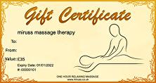 Massage Gift Certificate £35