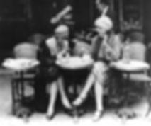 Vieux Paris - Terrasse de cafe en 1920.j