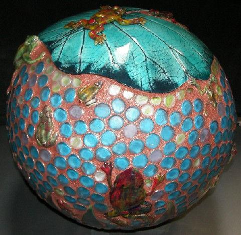 Chrysalis Pottery garden balls