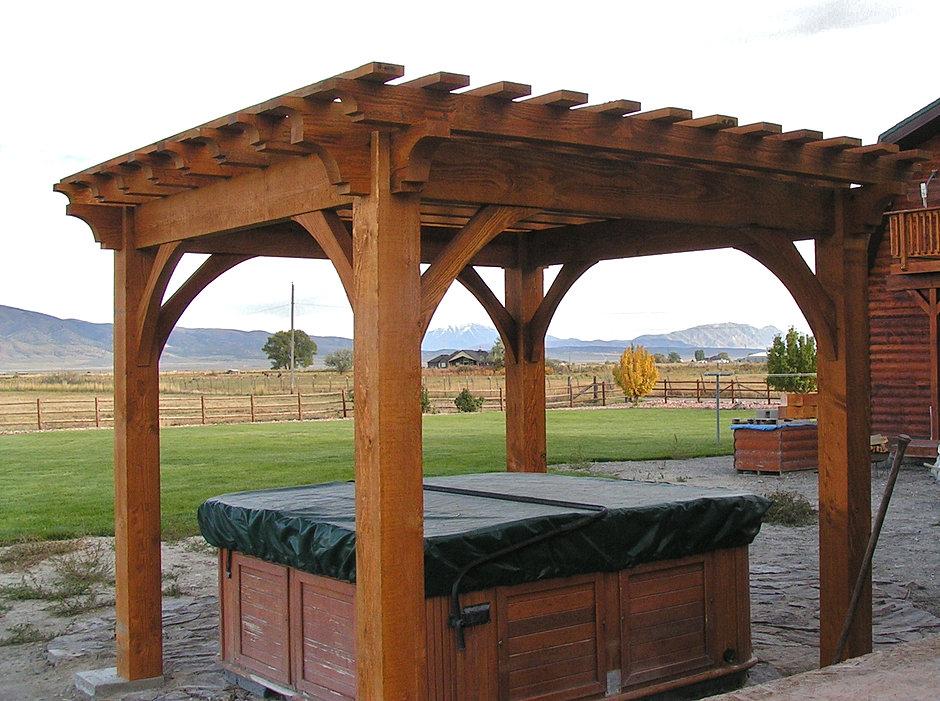 Wright timberframe pergola gallery for Home hardware gazebo plans