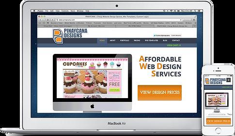 PINAYCANA | Cheap Website Design Service, Wix Templates, Custom Logos