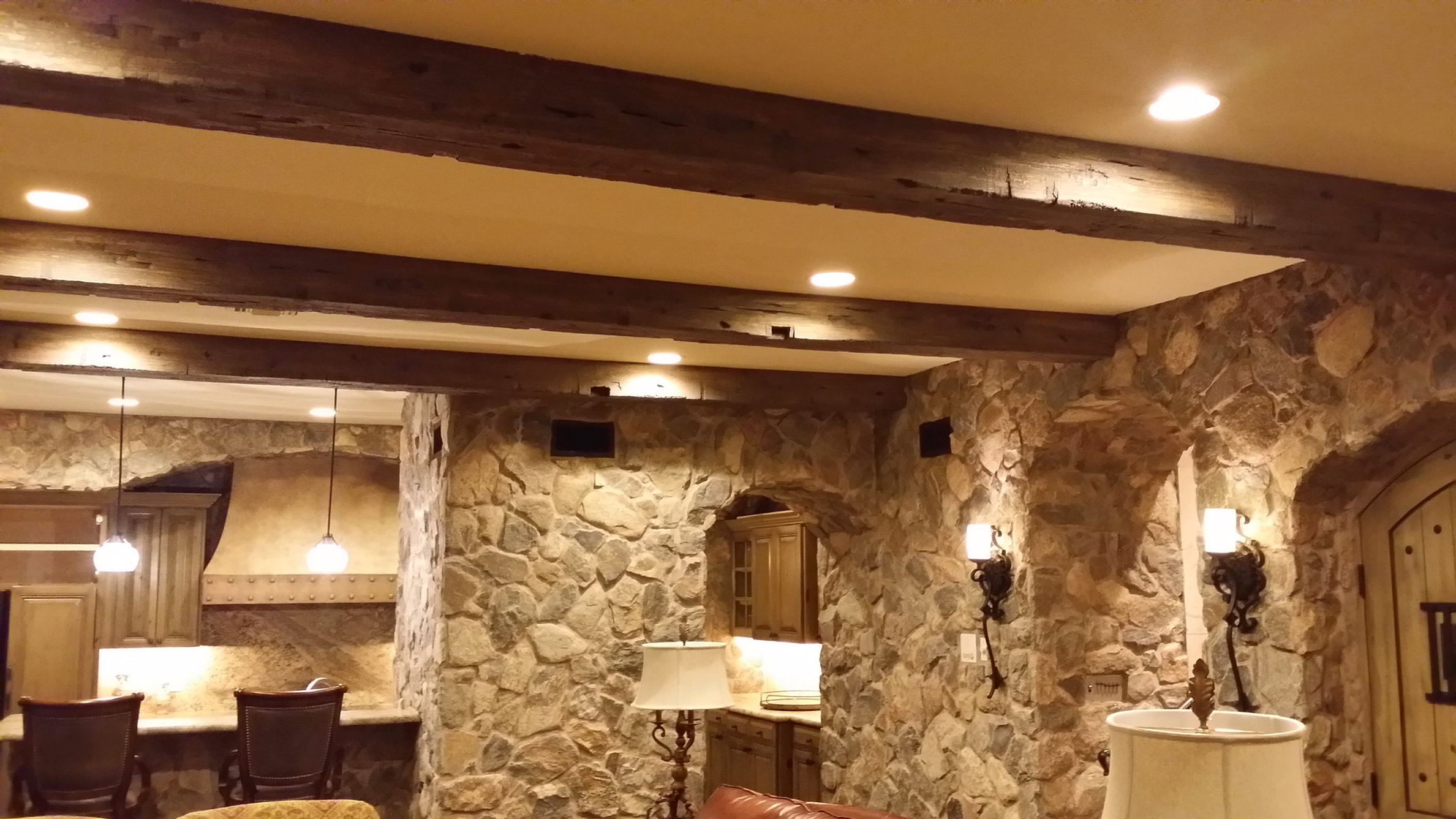 Faux Ceiling Beams. Faux Beams Stained With A Waterbased Deck ...
