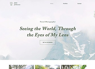 Seyahat Fotoğrafçısı Template - The ultimate travel photography template is here! Let your visitors live vicariously through your amazing journeys by uploading your stunning images and showcasing them in your website. Simple, yet sophisticated, it's just what you need to keep your visitors engaged and eager for more.