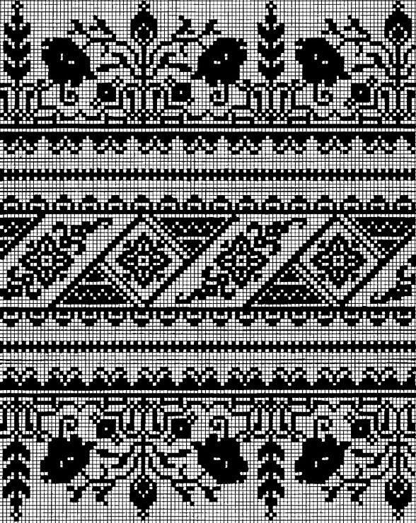 Сокальска вышивка (много схем
