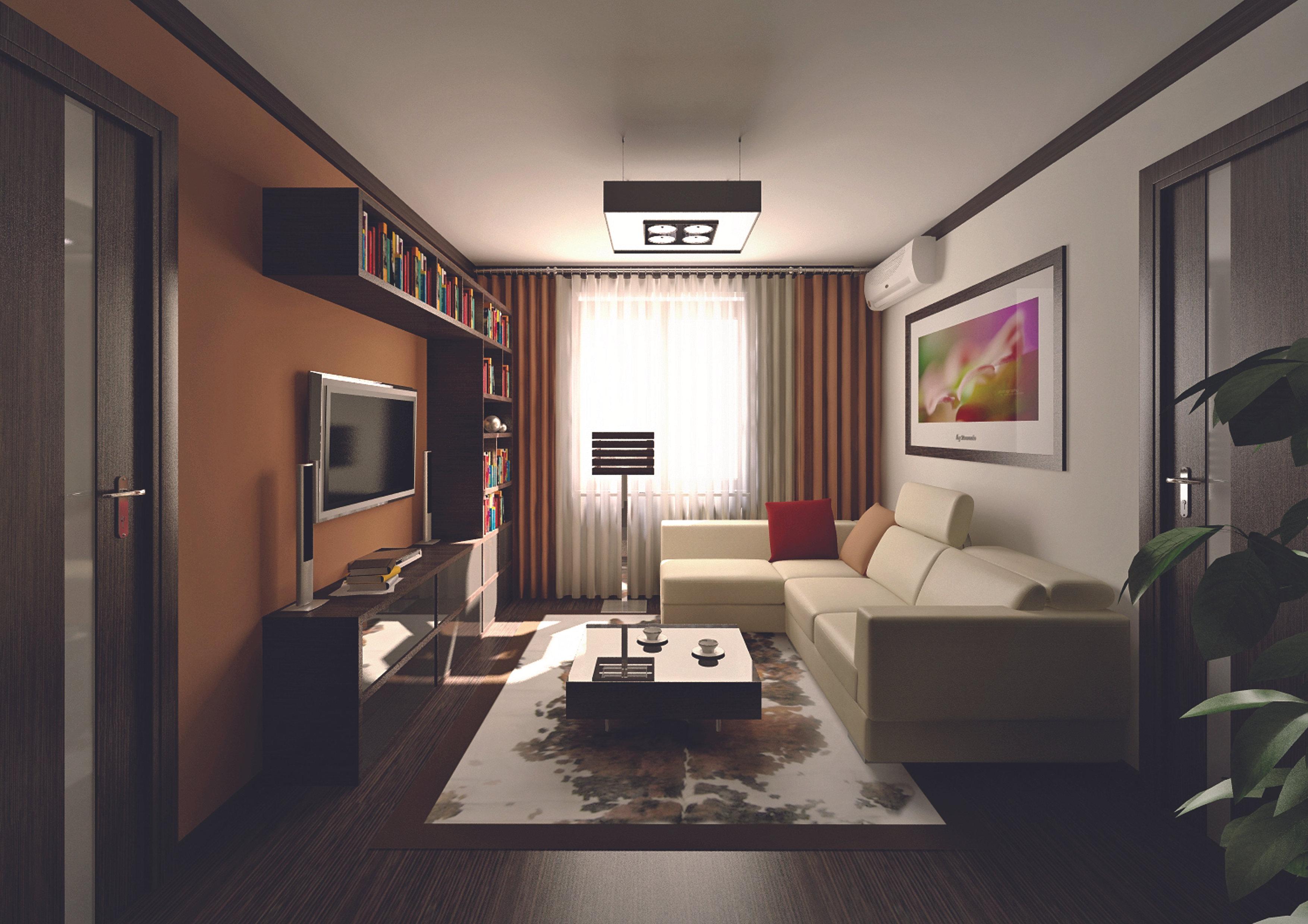 Дизайн большой проходной комнаты в хрущевке