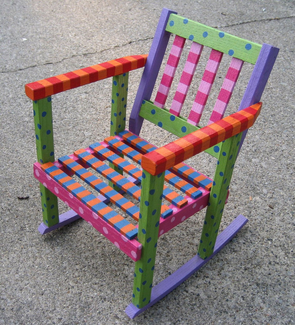 Chair Fairies Hand Painted Furniture Childrens