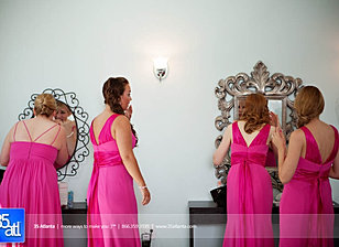 Bridesmaids get ready at Venue 92