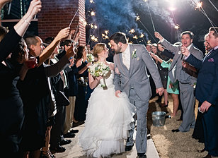 Sparklers to send the couple off!