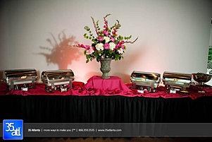Elegant food display by Eventwise