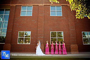 Bridal party in front of Venue 92