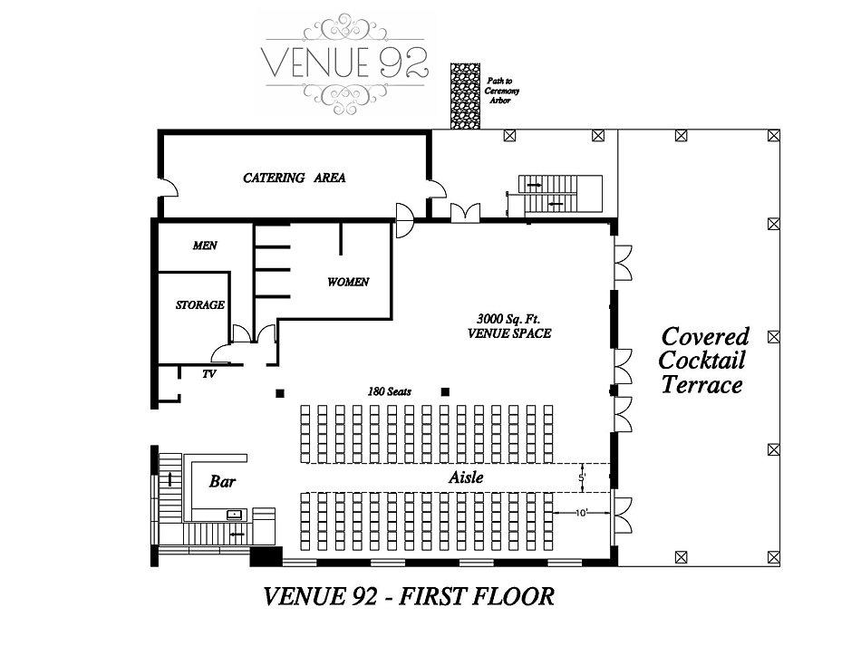 Venue 92 1st floor in-door ceremony