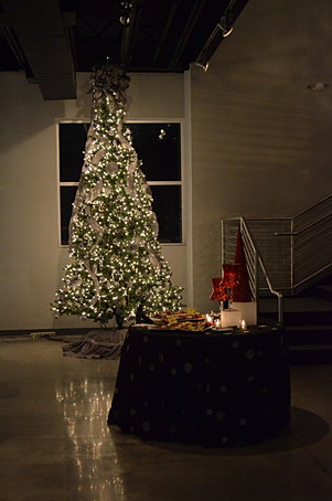 Venue 92's Holiday Tree is aglow!