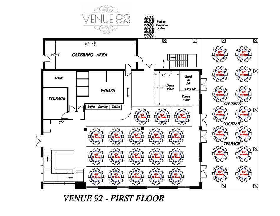 Venue 92 1st floor reception space