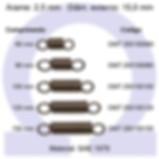 Mola Tração - arame 2,5