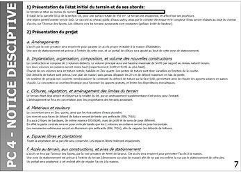 Permis de construire d claration de travaux for Notice descriptive permis de construire