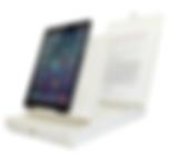 iPad mounted on ScanJig stand