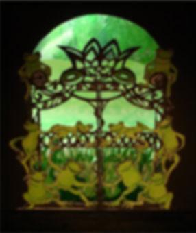The Frog Gate - Das Froschtor im Theaterstück: Der Froschkönig - Letzter Akt - Gabriele Brunsch Papertheatre Papiertheater Last Act