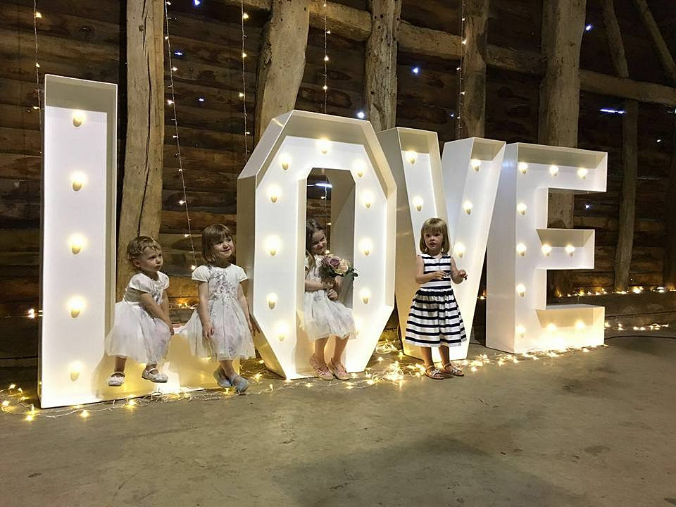 rusty and roses wedding and events hire based in berkshire letter lights