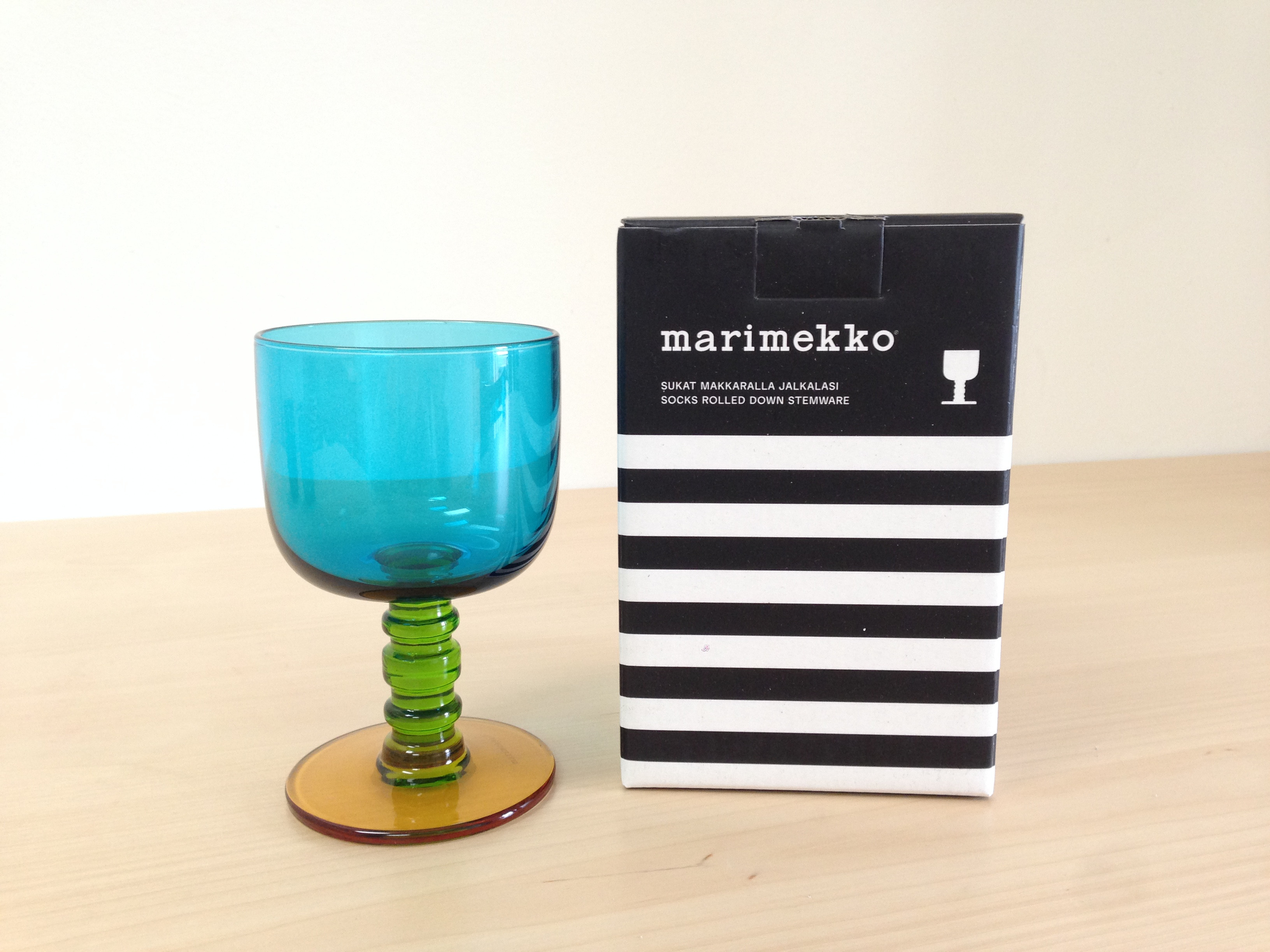 Marimekko Socks Rolled Down Stemware