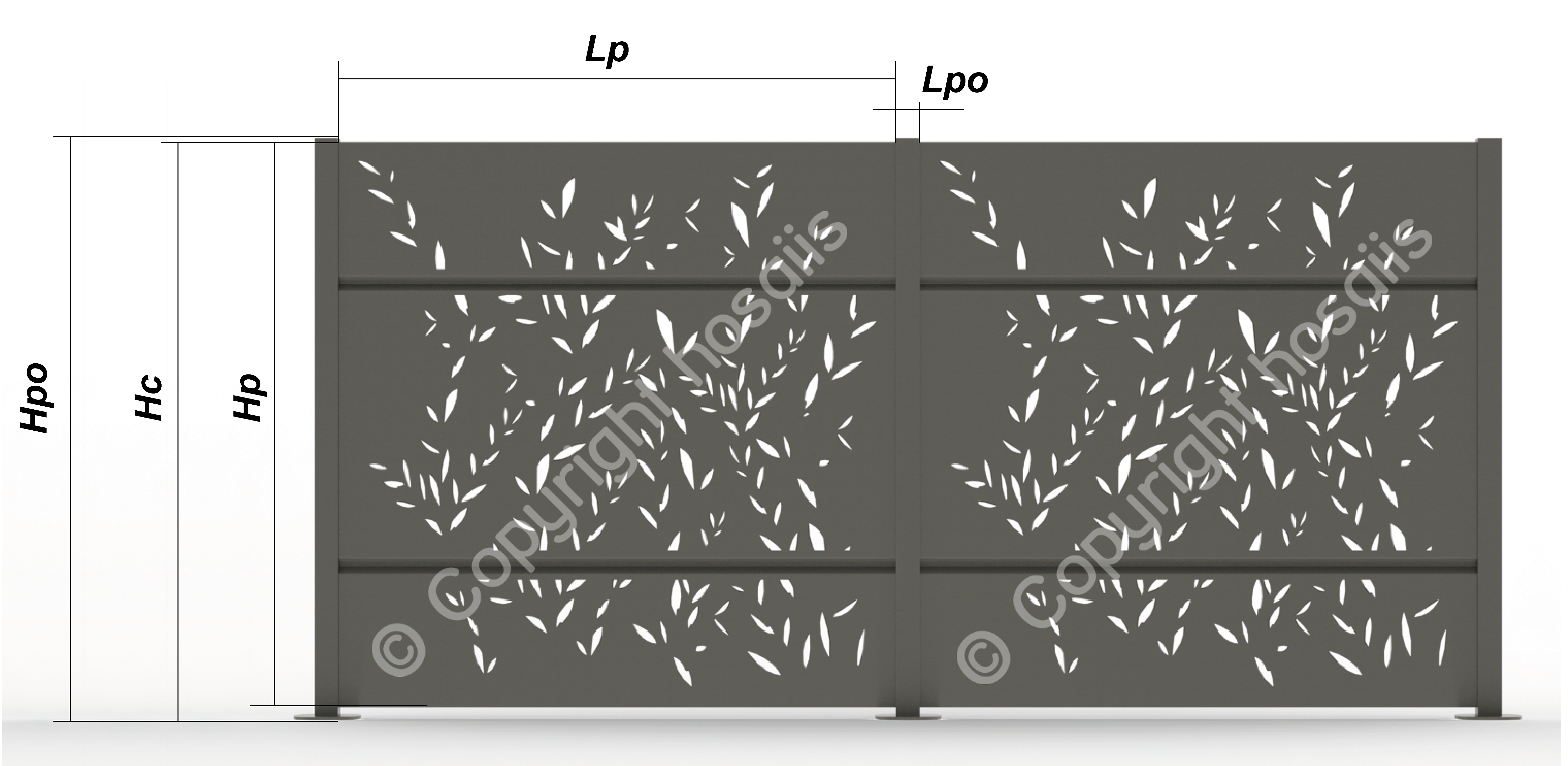 artlaser hosaiis hosaiis cloture claustra dimensions. Black Bedroom Furniture Sets. Home Design Ideas