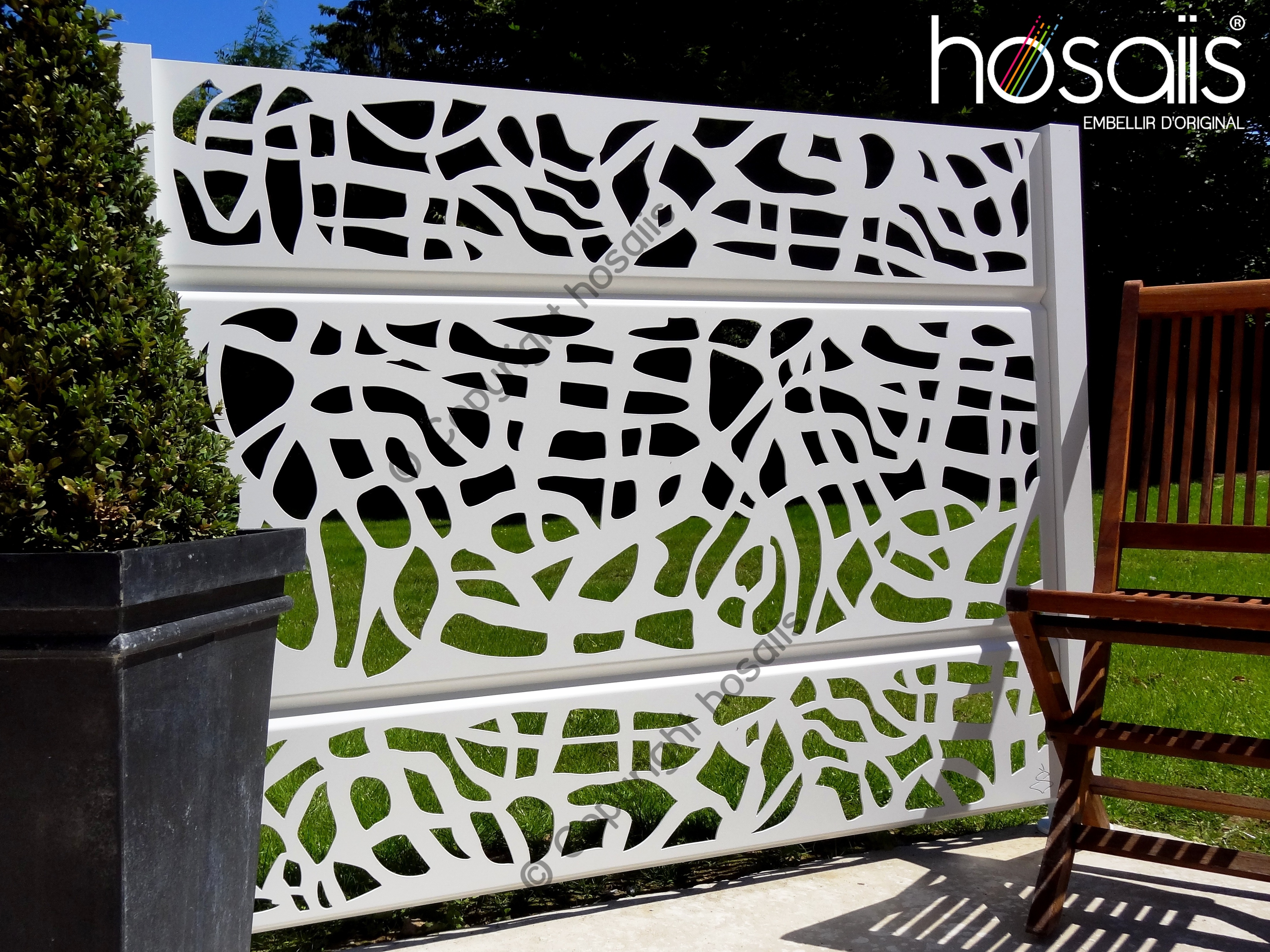 artlaser hosaiis brise vue hosaiis d coup laser alu. Black Bedroom Furniture Sets. Home Design Ideas