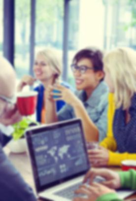 riunione del team di marketing