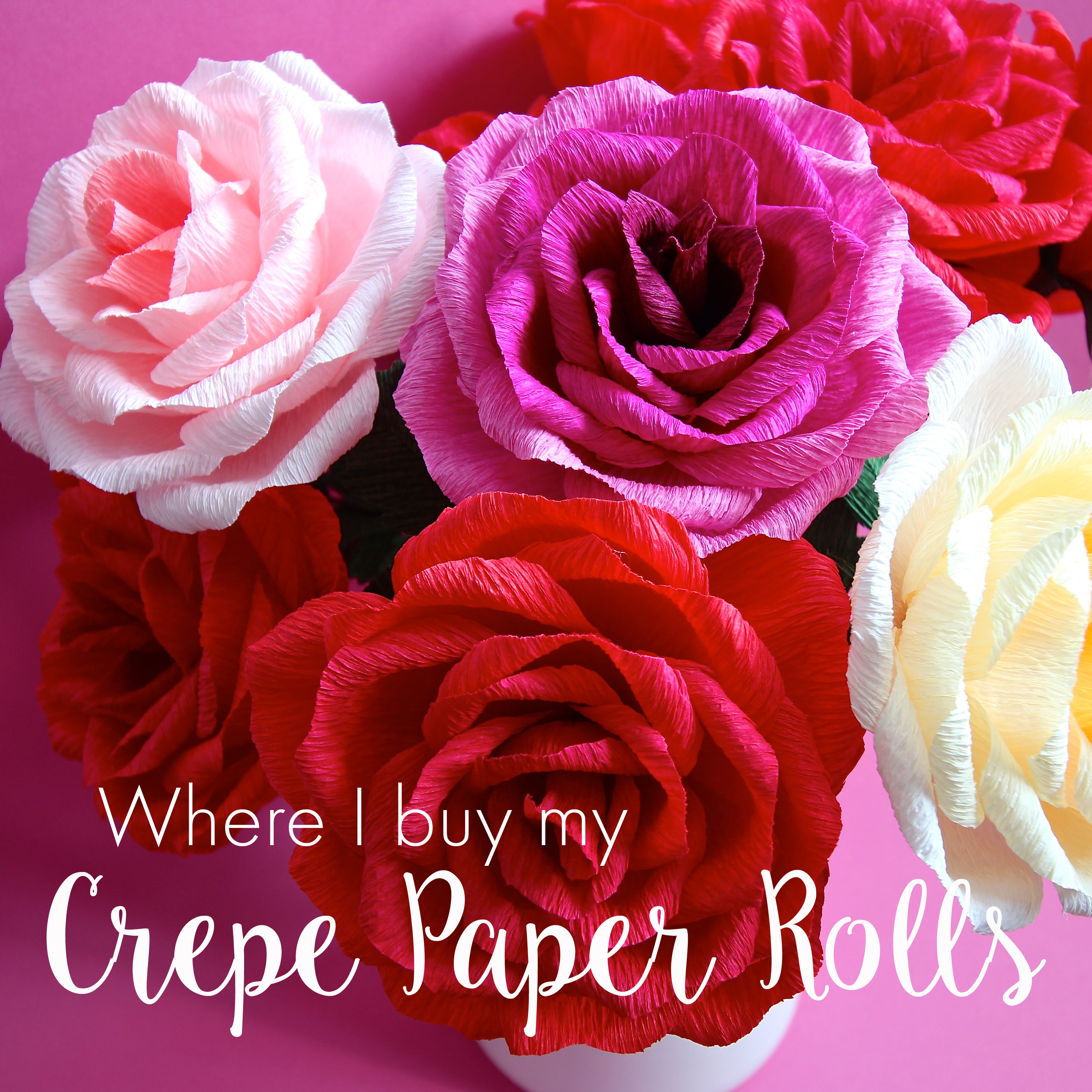 Where I Buy My Crepe Paper Rolls Miss Petal Bloom Crepe Paper