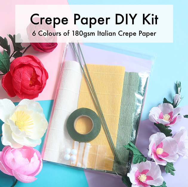 Crepe paper diy kits great youtube channels for paper flowers on top of my workshop supplement rose and peony kits ive just launched a new diy kit with 6 sheets of italian crepe plus some little extra materials mightylinksfo