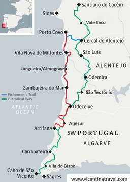 Discovering The Alentejo Algarve South West Coast Selfguided - Portugal map south