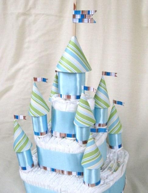 Как сделать торт из 52 памперсов с фото
