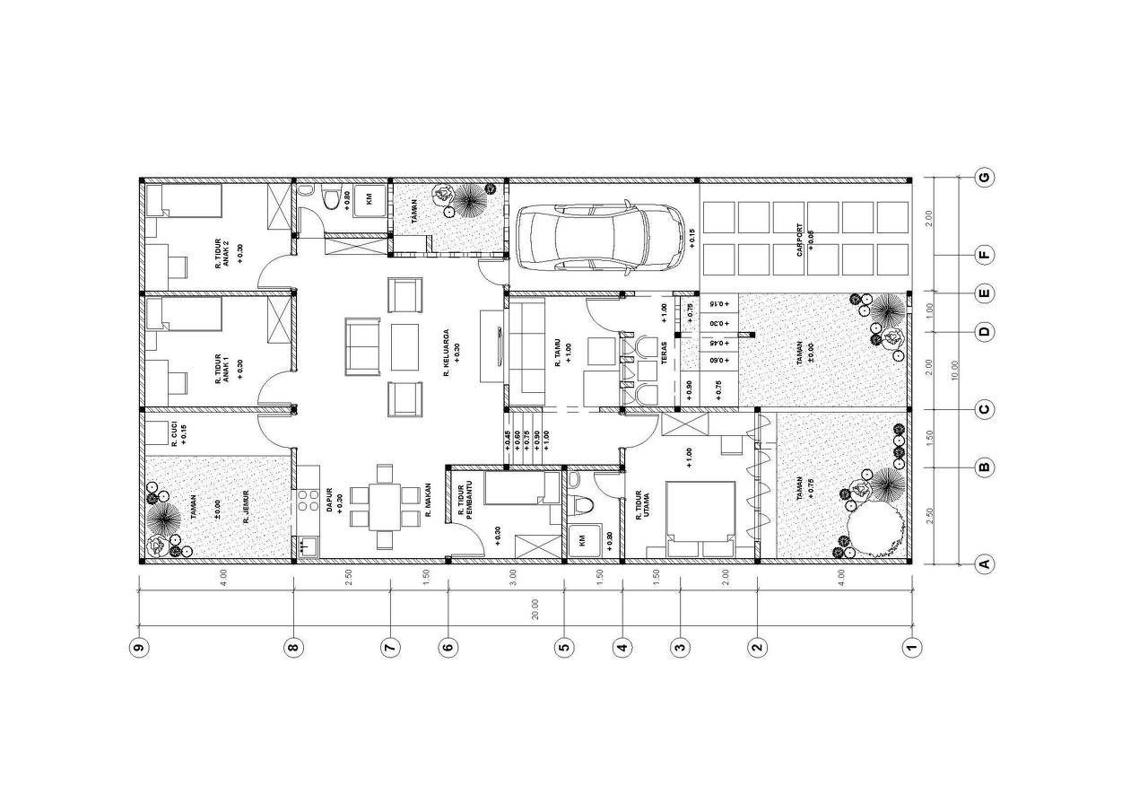 Putrabanichitects wix rumah 200 m2 0g malvernweather Choice Image