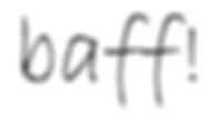 baff! Wortmarke (schw auf weiß).png