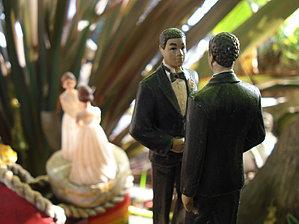 Gay wedding cake figurines - Oakland Therapist, Mill Valley Therapist, EMDR, LGBT Issues, Transgender, Gay Men, LGBTQ, Couples, Premarital