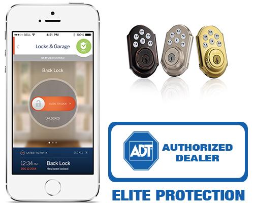 Elite protection automatic door lock with adt pulse for Adt z wave door lock