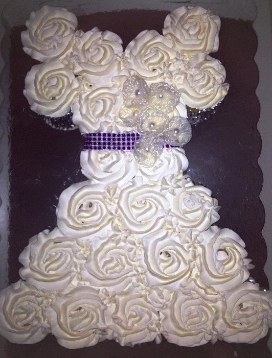 Bite Size Heaven - Custom Desserts in Richmond, VA   Wedding Dress Cupcake Cake