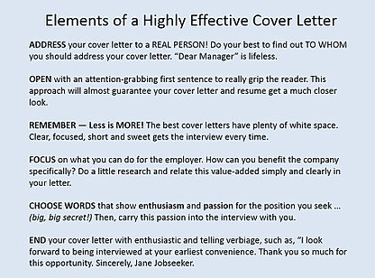 Elements Of A Good Cover Letter Yorte