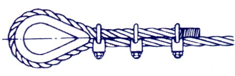 Wire rope clips or bulldog grips