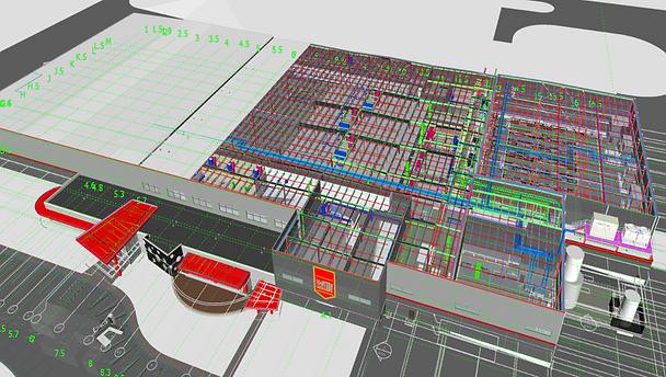 3D Building Information Model Used for C