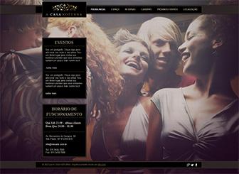 Casa Noturna Template - Este template sexy para clubes, bares e restaurantes possui uma vibração descolada. Personalize este template para permitir que os clientes façam reservas, leiam o menu e saibam quais os próximos eventos. Crie uma galeria de fotos para compartilhar os destaques da noite e divirta-se!