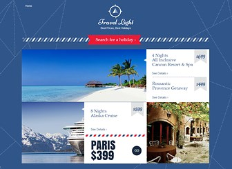 Travel Deals Landing Page Template - Attract the jet set crowd with this chic and elegant template. Add text, images, and links to create a stylish landing page for your travel agency or vacation planning service. Start editing to reach a global market!