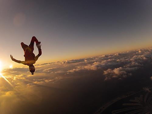 skydiving wallpaper sunset free - photo #28