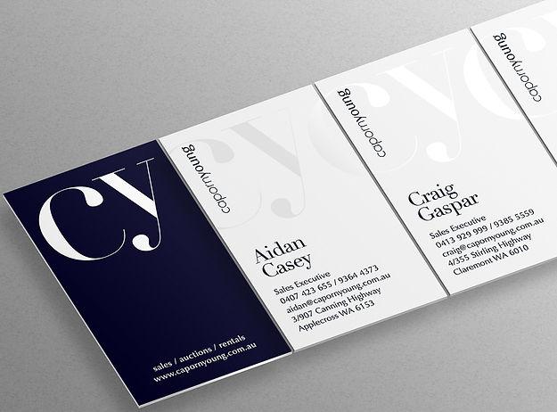 Caporn Young logo identity brand graphic design