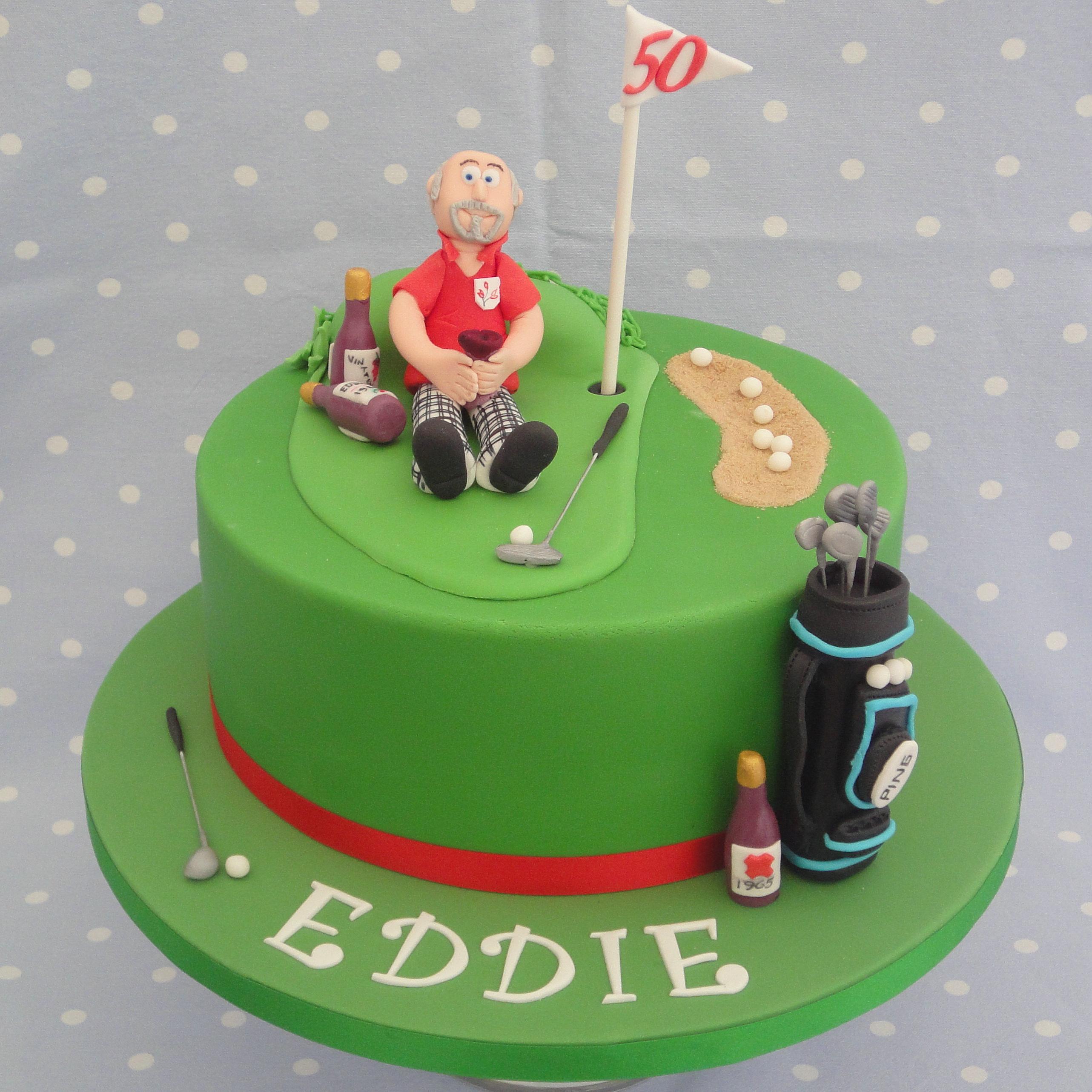 Fondant Golf Cake Design : Stunning Cakes GOLF CAKE.jpg