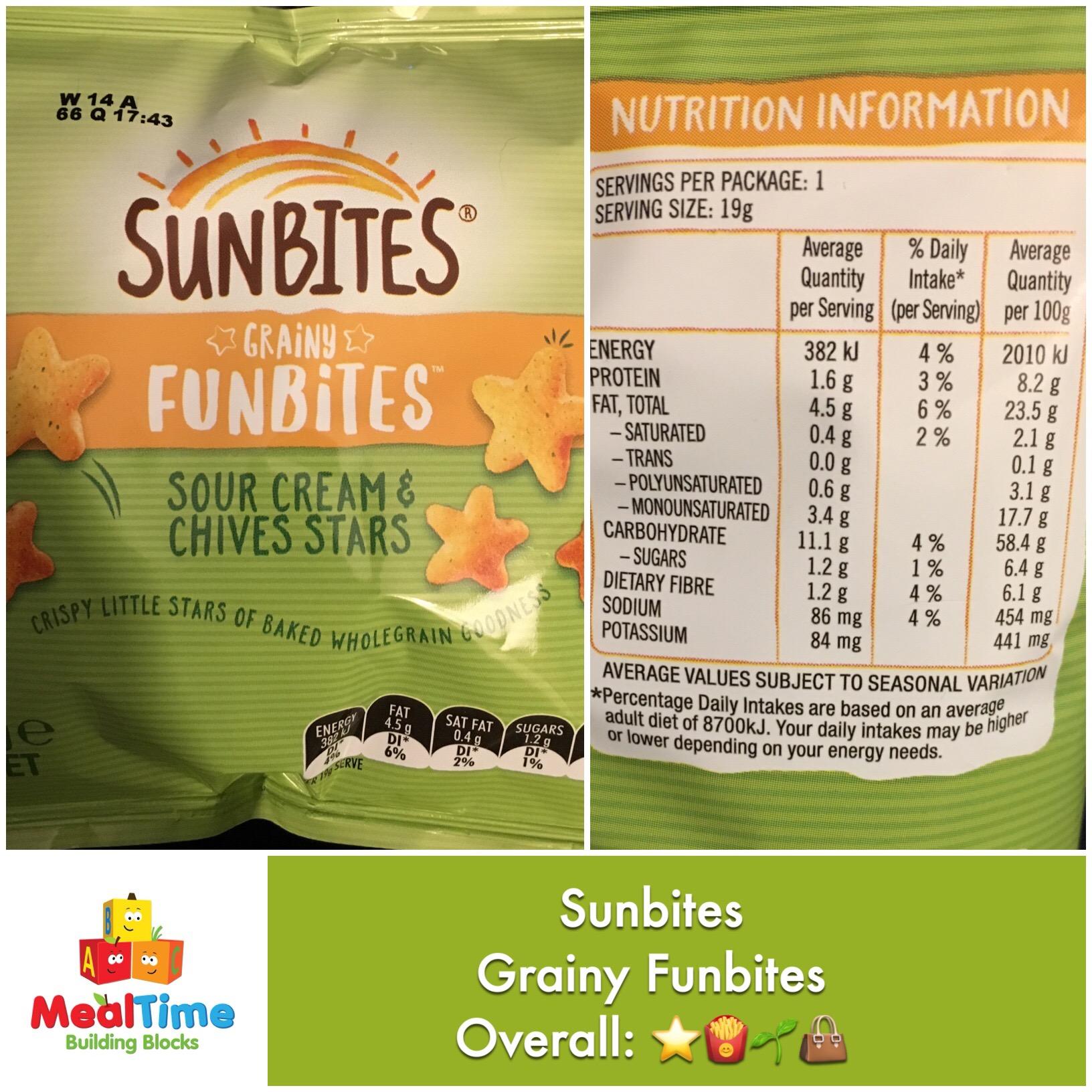 Chewsday review sunbites grainy funbites storehouse for Funbites