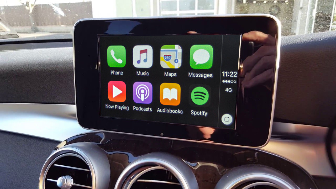 Apple carplay for 2016 and 2017 mercedes benz with for Mercedes benz apple carplay