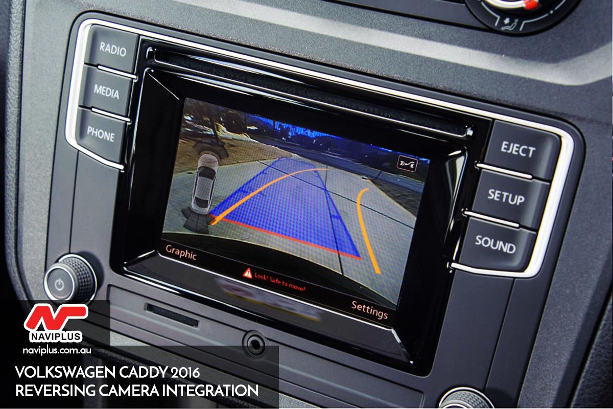 2016 vw caddy reversing camera integration for. Black Bedroom Furniture Sets. Home Design Ideas