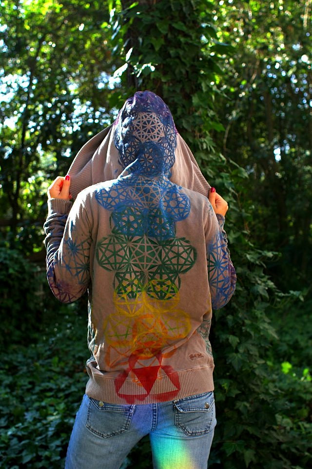 Sacred Geometry Art Sacred Geometry Chakra Hoodie