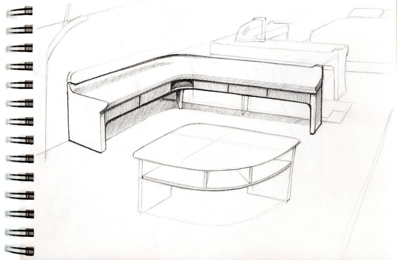 Initial Sketches Furniture Interior Design
