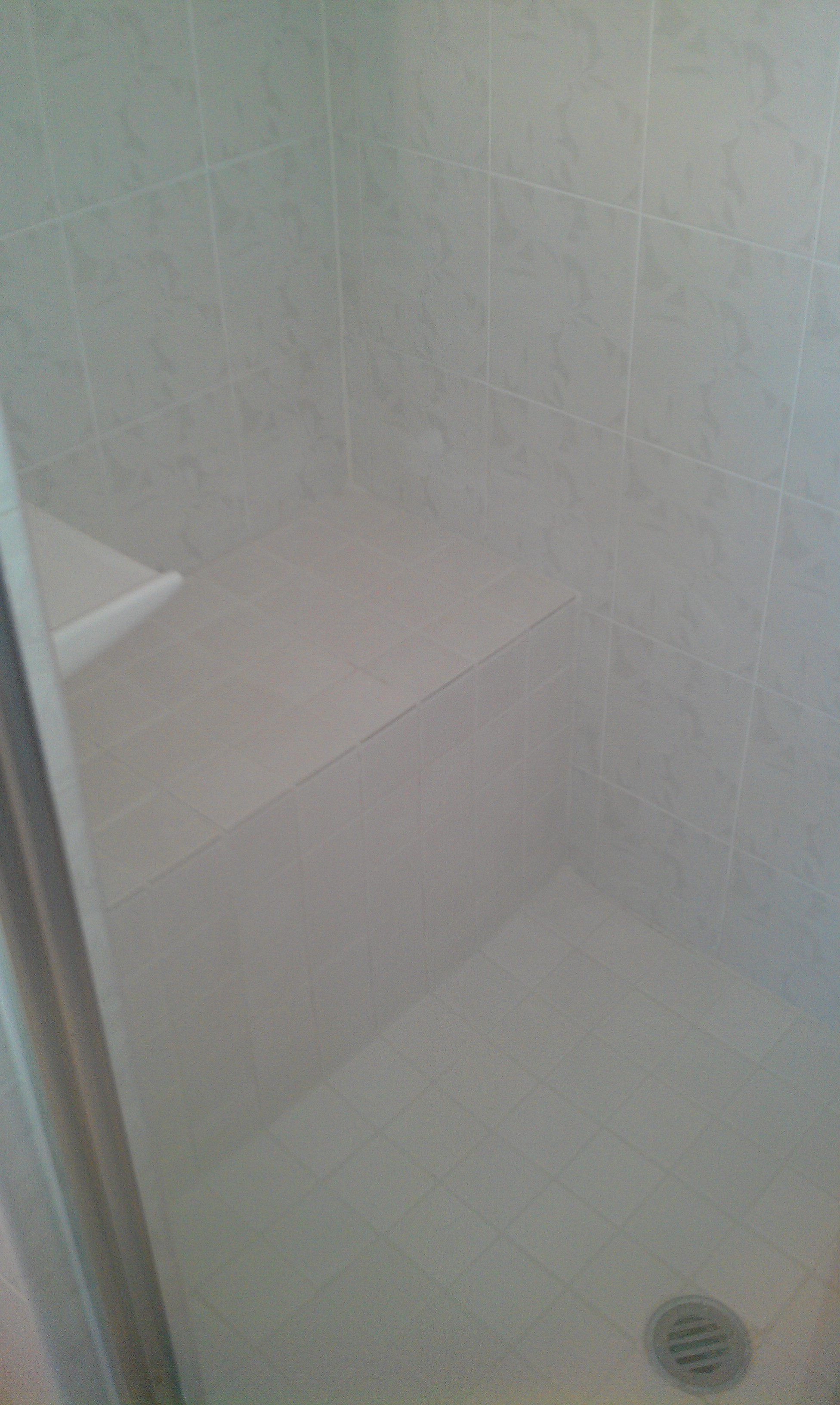 Shower re grouting